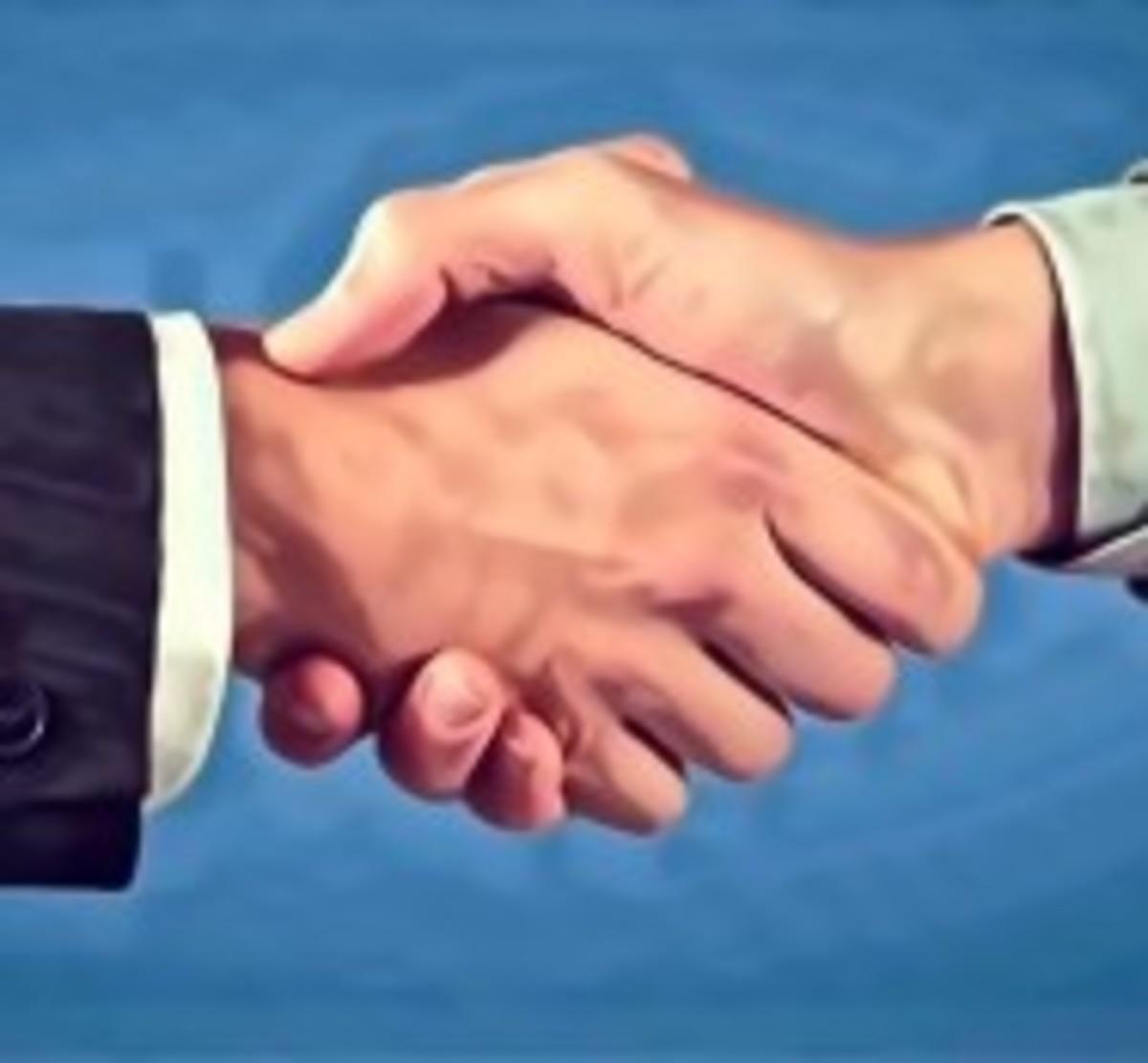 Human handshakes are different than dog handshakes.