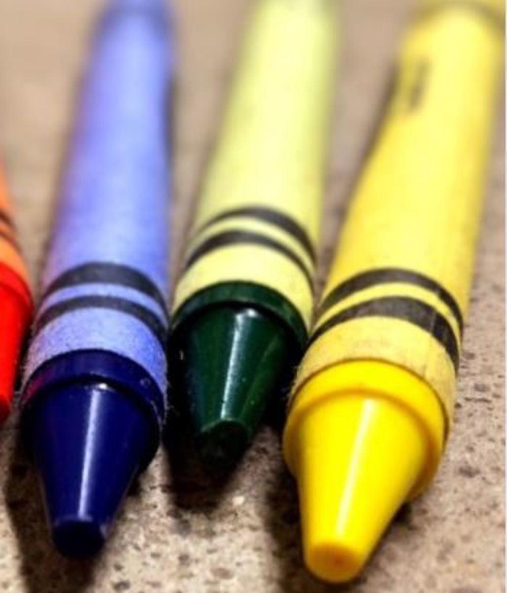 dog ate crayons