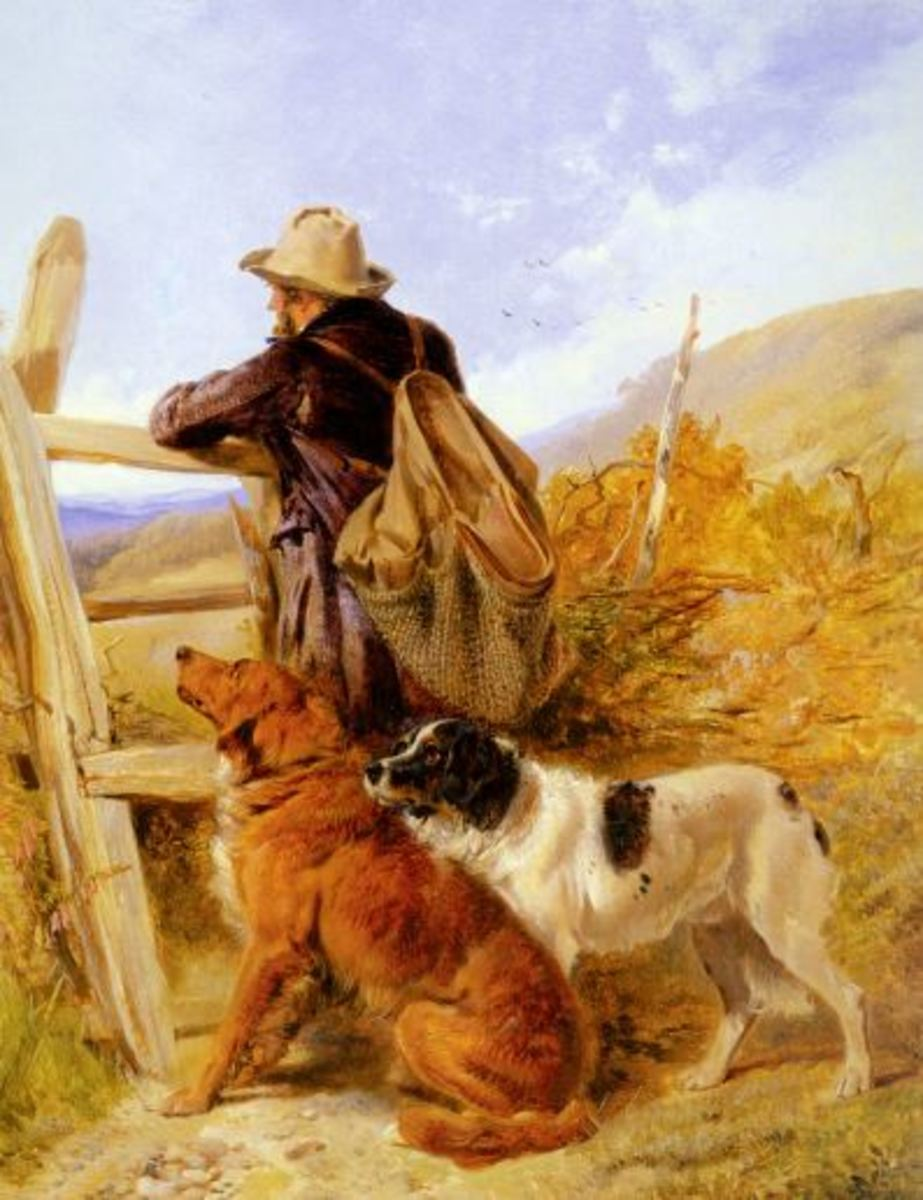 The Gamekeeper, by Richard Andsell, 1815-85.