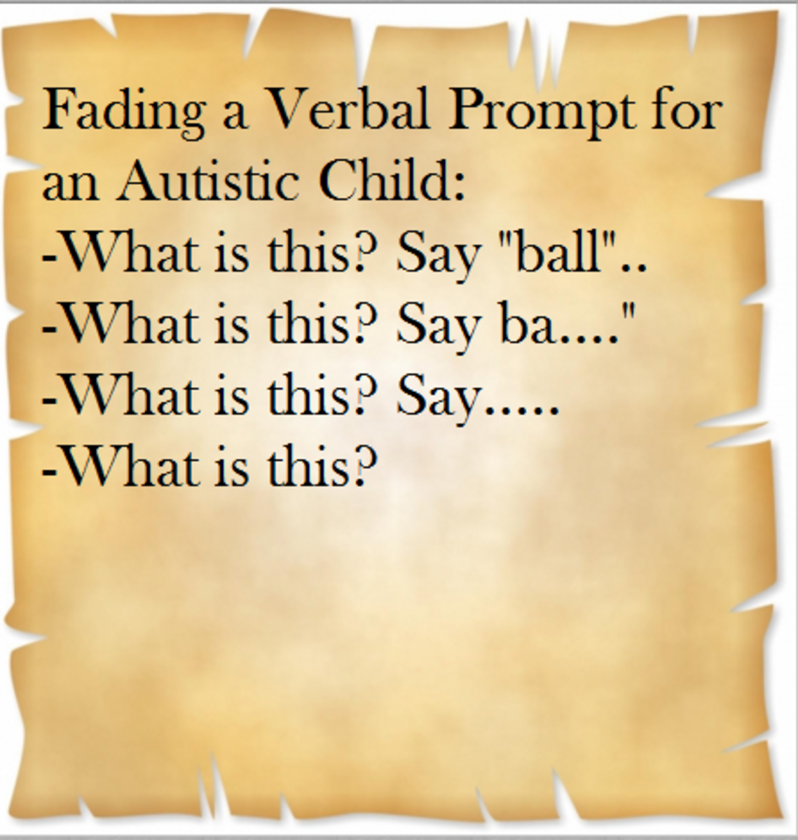 fading a verbal prompt