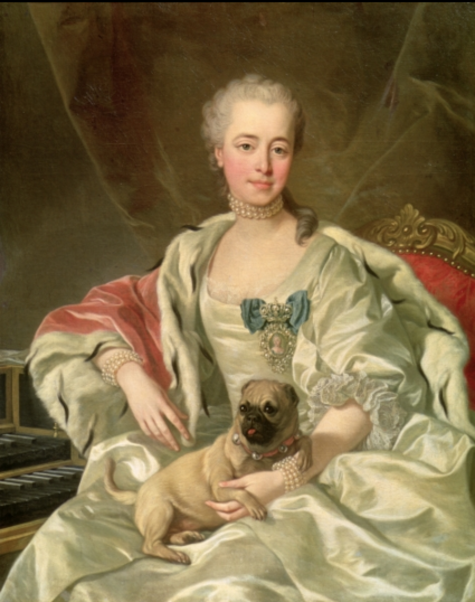 A portrait of Princess Ekaterina Dmitrievna Golitsyna