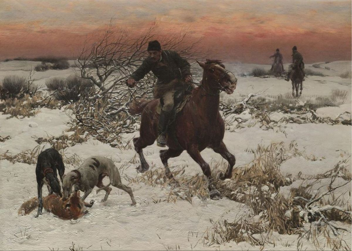 The Hunter, oil on canvas by Alfred Kowalski